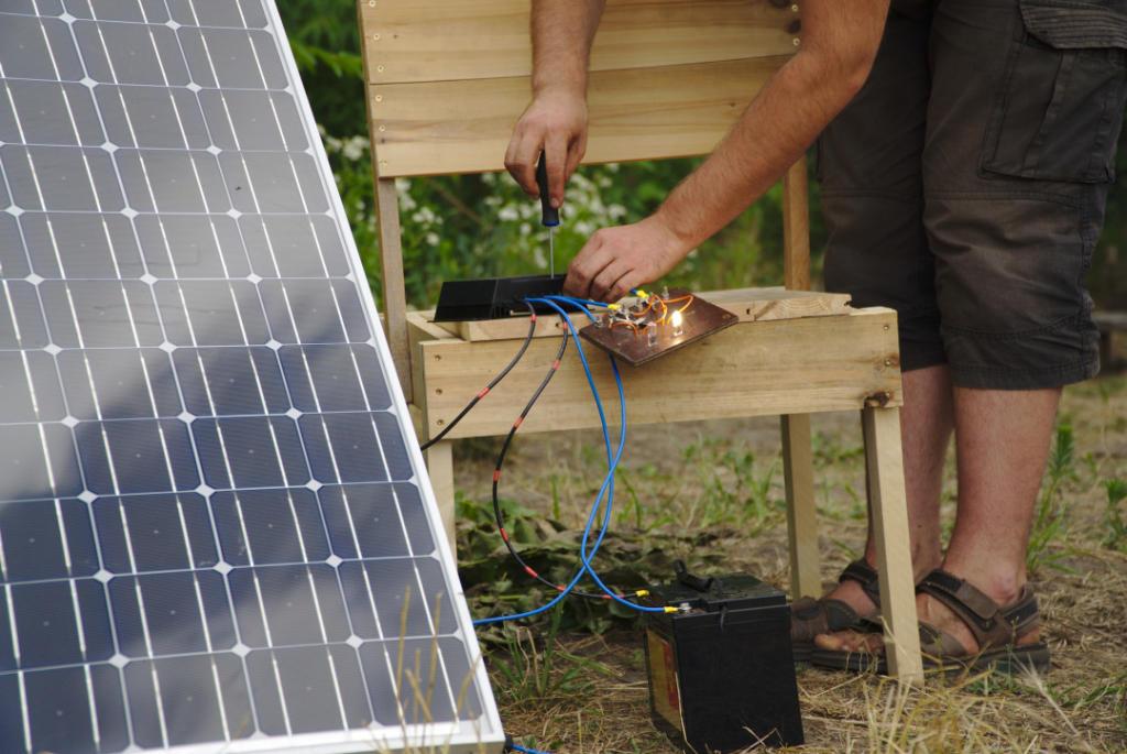 Mir geht ein Licht auf – Grundlagenwissen Strom & Solarmodule @ Alte Gärtnerei Pieschen